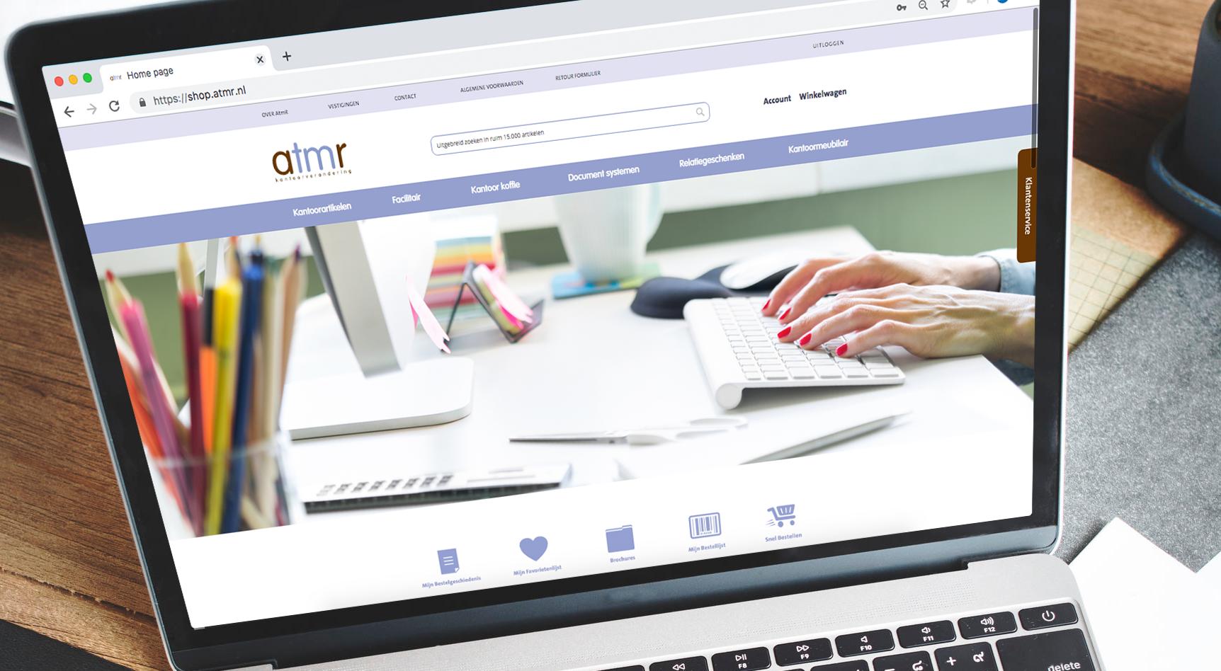 AtmR vernieuwt webshop voor kantoorbenodigdheden